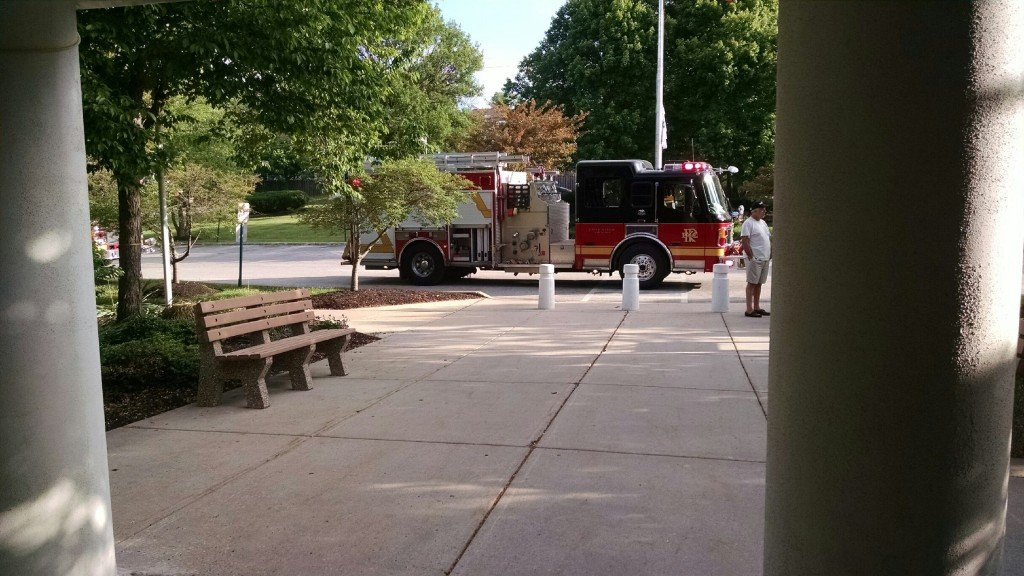 Water Fountain Causes Fire Response to the Township Building
