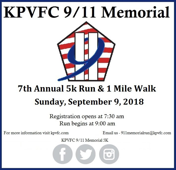 7th Annual KPVFC 9/11 Memorial Run